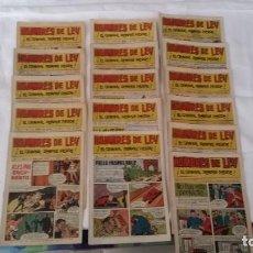 Tebeos: HOMBRES DE LEY EDITORIAL CREO, VALENCIA. 16 NUMEROS ORIGINALES AÑO 1961. Lote 116263519