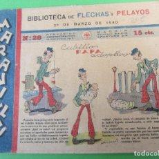 Tebeos: BIBLIOTECA FLECHAS Y PELAYOS , MARAVILLAS , NUMERO 28 , MARZO 1940. Lote 116934387