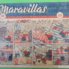 Tebeos: BIBLIOTECA FLECHAS Y PELAYOS , MARAVILLAS , NUMERO 31 , ABRIL 1940. Lote 116934787