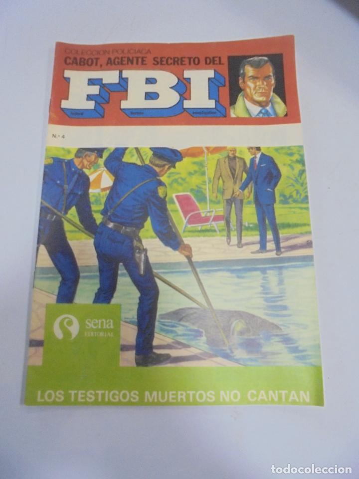 TEBEO. COLECCION POLICIACA. Nº 4. CABOT, AGENTE SECRETO DEL FBI. EDITORIAL SENA (Tebeos y Comics - Tebeos Otras Editoriales Clásicas)