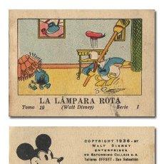 Tebeos: WALT DISNEY.– LA LÁMPARA ROTA. JUGUETES INSTRUCTIVOS MICKEY [MOUSE] SERIE I, TOMO 19. CALLEJA 1936. Lote 140461548