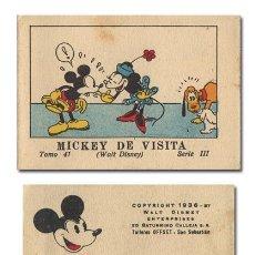 Tebeos: WALT DISNEY. MICKEY DE VISITA. JUGUETES INSTRUCTIVOS MICKEY [MOUSE]. SERIE III, TOMO 41.CALLEJA 1936. Lote 119102174