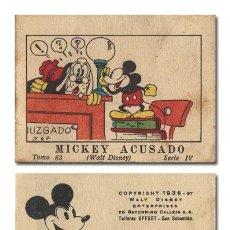 Tebeos: WALT DISNEY. MICKEY ACUSADO. JUGUETES INSTRUCTIVOS MICKEY [MOUSE]. SERIE IV, TOMO 63. CALLEJA 1936. Lote 119102310