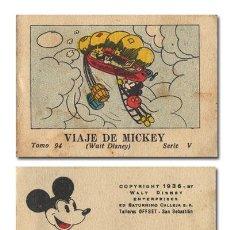 Tebeos: WALT DISNEY. VIAJE DE MICKEY. JUGUETES INSTRUCTIVOS MICKEY [MOUSE]. SERIE V, TOMO 94.CALLEJA 1936. Lote 119102318