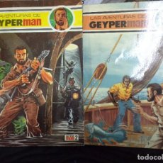 Tebeos: LOTE DE LAS AVENTURAS DE GEYPERMAN.VOLUMEN 2 Y 3.EDICIONES RECREATIVAS 1978.. Lote 119908743