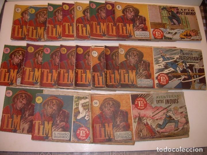 LOTE DE 19... TBOS-COMICS...TIM EL PEQUEÑO VAGABUNDO. (Tebeos y Comics - Tebeos Clásicos (Hasta 1.939))