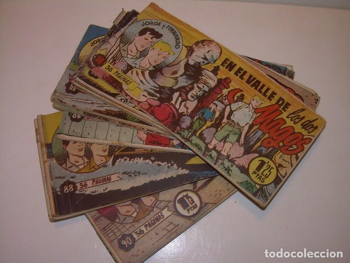 LOTE DE 12... TBOS-COMICS...JORGE Y FERNANDO. (Tebeos y Comics - Tebeos Clásicos (Hasta 1.939))