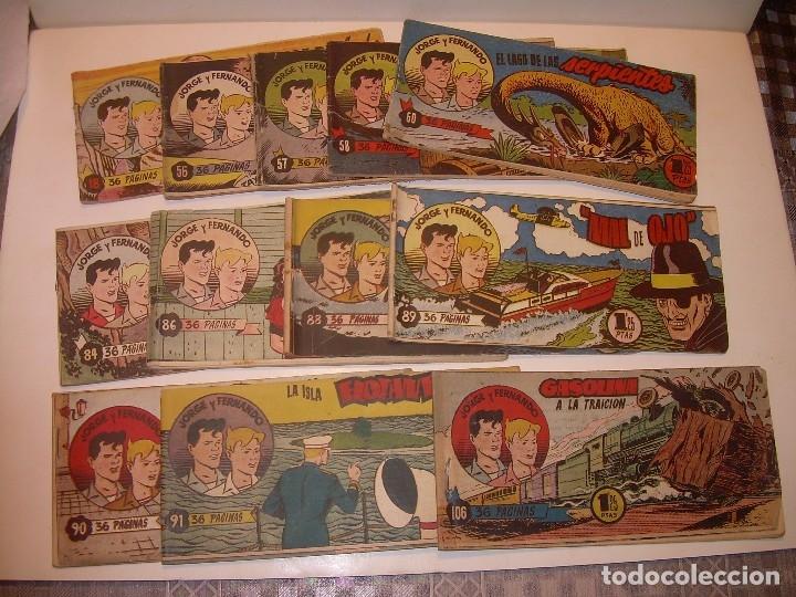 Tebeos: LOTE DE 12... TBOS-COMICS...JORGE Y FERNANDO. - Foto 3 - 120019879