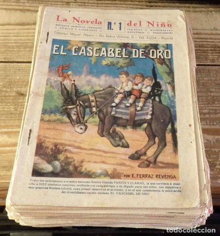 ESPECTACULAR LOTE ,NUMERO 1 A 63 DE LA NOVELA DEL NIÑO, LA NOVELA ALBERO, AÑOS 30, VER IMAGENES (Tebeos y Comics - Tebeos Clásicos (Hasta 1.939))
