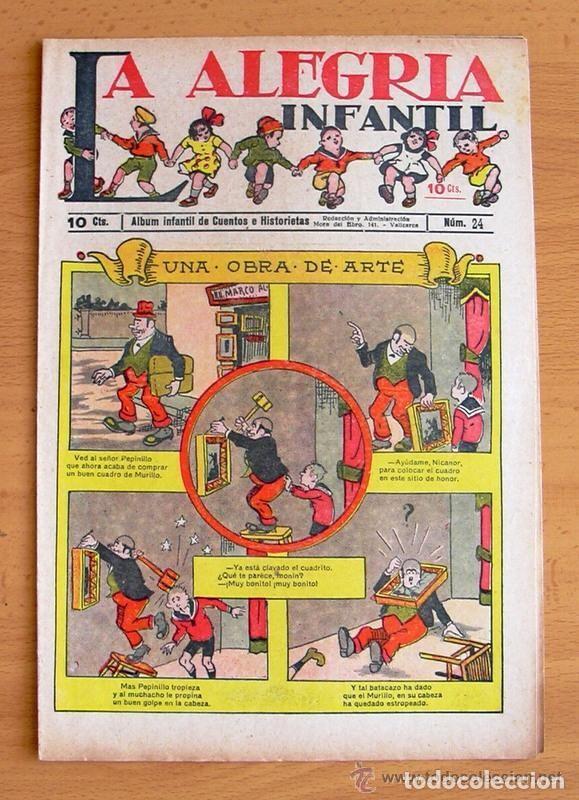 LA ALEGRIA INFANTIL Nº 24 - EDITORIAL GATO NEGRO 1922 (Tebeos y Comics - Tebeos Clásicos (Hasta 1.939))