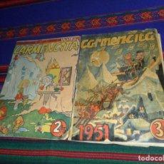 Tebeos: CARMENCITA ALMANAQUE 1951 Y EXTRAORDINARIO DE LOS CUENTOS DE HADAS Nº 1. ED. ALBERTO GENIES. RAROS.. Lote 121610283