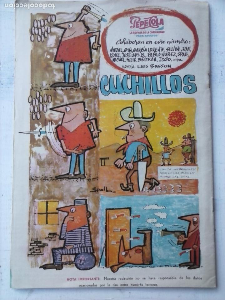 Tebeos: PEPE COLA Nº 6 - EDITORIAL MATEU 1959 - Foto 2 - 123318975