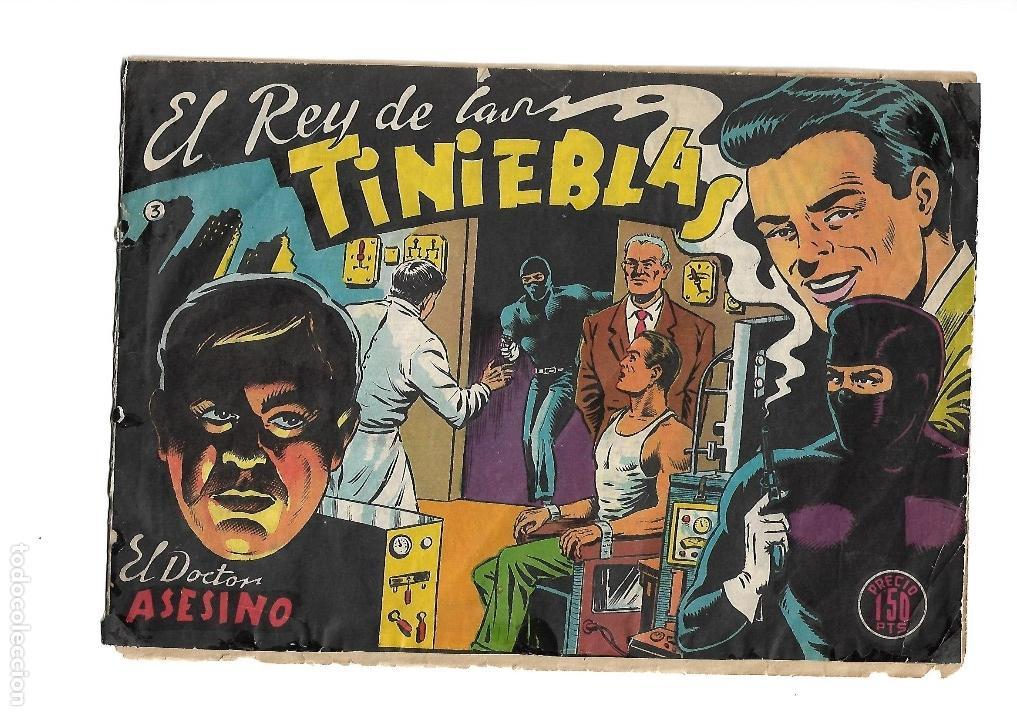 Tebeos: El Rey de las Tinieblas, Nº 3. Original. Dibujante Fussy. Editorial Samara. Año 1.955. - Foto 3 - 122733760