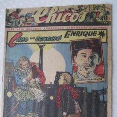Tebeos: CHICOS , NUMERO 292 , ORIGINAL 1944, BUENA CONSERVACION EN GENERAL. Lote 124504763