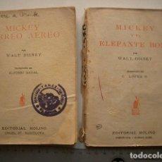 Tebeos: MICKEY Y EL ELEFANTE BOBO Y MICKEY CORREO AEREO , EDITORIAL MOLINO, WALT DISNEY . Lote 124714495