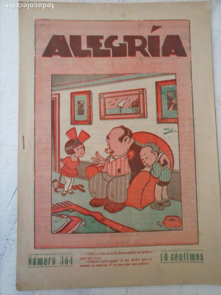 ALEGRÍA Nº 364 - 1931 - HOJAS SIN ABRIR (Tebeos y Comics - Tebeos Otras Editoriales Clásicas)