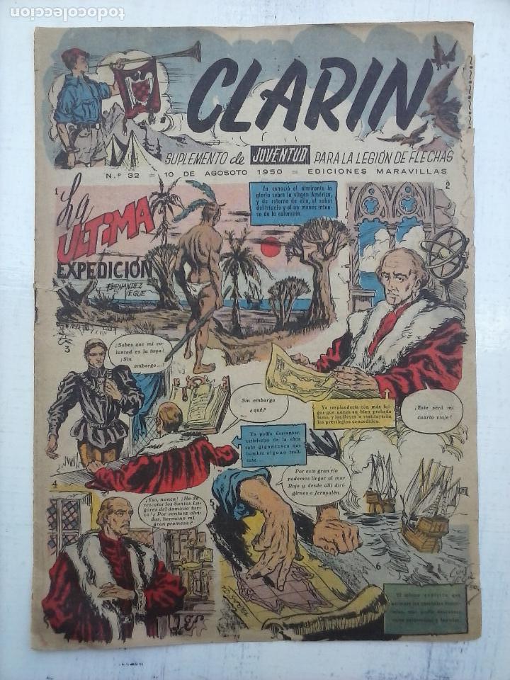 CLARIN Nº 32 - 1950 (Tebeos y Comics - Tebeos Otras Editoriales Clásicas)