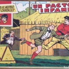 Tebeos: TEBEO N°1 LA VUELTA AL MUNDO DE DOS CHAVALES 1959. Lote 129022170