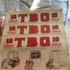 Tebeos: LOTE DE 71 TBO. PRIMERA ÉPOCA (1917-1938). AÑO XIII HASTA AÑO XIX. DE J.BUIGAS.. Lote 129487251