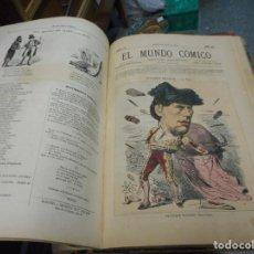Tebeos: SUPONGO DE LOS PRIMEROS TEBEOS O EL ANTECESOR EL MUNDO COMICO TOMO 3 DEL NUMERO 61 AL 90 1874. Lote 130198339