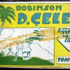 Tebeos: ROBINSON D.CELES POR OLMO. TOMO 4. AÑO: 1949. COMPLETO. CON PUBLICIDAD DE LUGARES DE BILBAO.. Lote 130797944