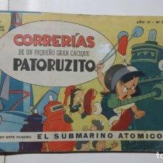 Tebeos: CORRERÍAS DE PATORUZITO N° 37 - SUPERHÉROE ARGENTINA - ORGINAL EDITORIAL DANTE QUINTERNO. Lote 131087008