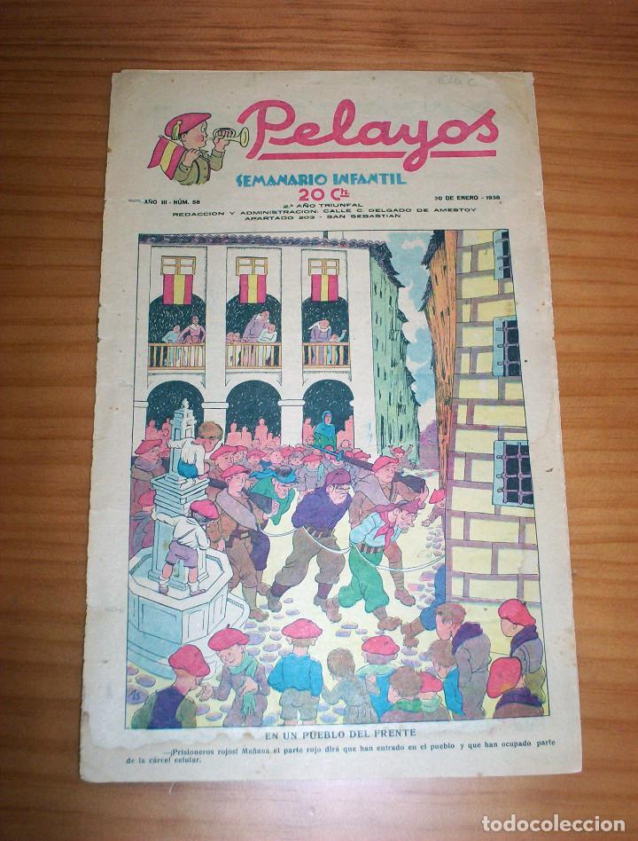 PELAYOS - NÚMERO 58 - AÑO 1938 (Tebeos y Comics - Tebeos Clásicos (Hasta 1.939))