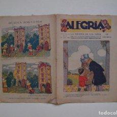 Livros de Banda Desenhada: ALEGRÍA - LA REVISTA DE LOS NIÑOS - Nº 158 - ROSSEL 1928. Lote 131289007