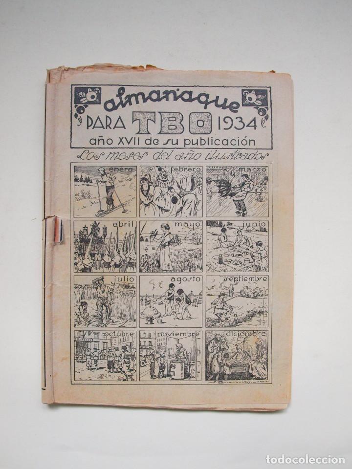 ALMANAQUE PARA TBO - AÑO XVII - PRIMERA EPOCA - EDITORIAL BUIGAS 1934 (Tebeos y Comics - Tebeos Clásicos (Hasta 1.939))