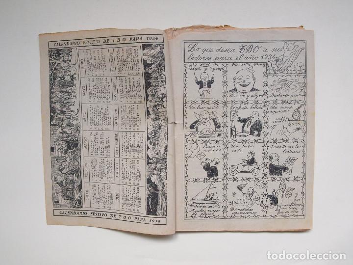 Tebeos: ALMANAQUE PARA TBO - AÑO XVII - PRIMERA EPOCA - EDITORIAL BUIGAS 1934 - Foto 2 - 131290403
