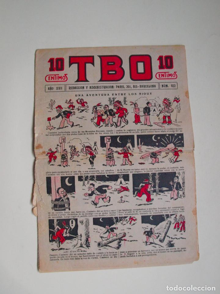 TBO Nº 822 - AÑO XVII - PRIMERA EPOCA - EDITORIAL BUIGAS 1928 (Tebeos y Comics - Tebeos Clásicos (Hasta 1.939))