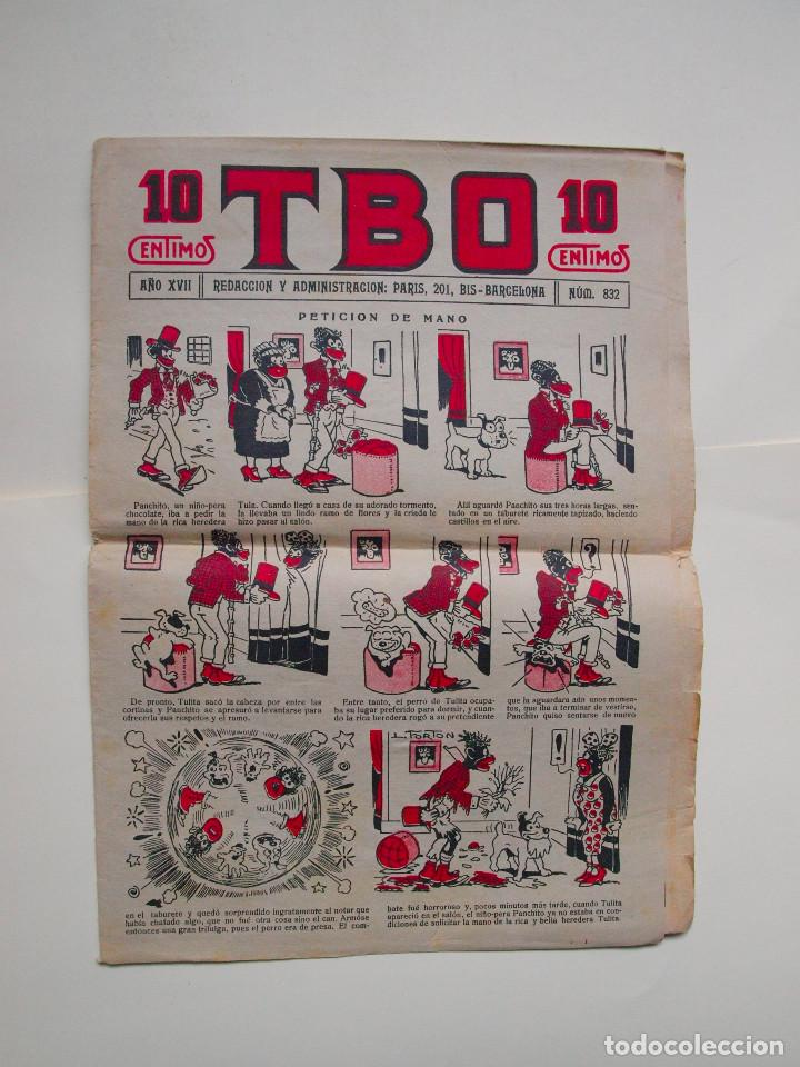 TBO Nº 832 - AÑO XVII - PRIMERA EPOCA - EDITORIAL BUIGAS 1928 (Tebeos y Comics - Tebeos Clásicos (Hasta 1.939))