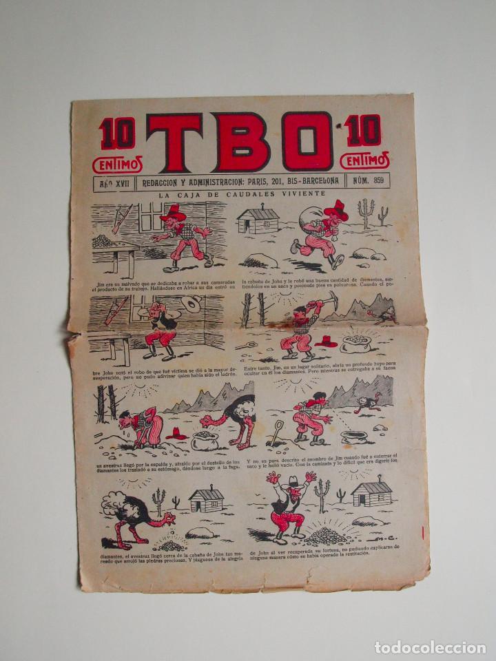 TBO Nº 855 - AÑO XVII - PRIMERA EPOCA - EDITORIAL BUIGAS 1928 (Tebeos y Comics - Tebeos Clásicos (Hasta 1.939))