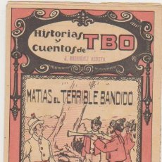 Tebeos: HISTORIAS Y CUENTOS DE TBO Nº 76. MATÍAS EL TERRIBLE BANDIDO. BUIGAS 1919. Lote 131344882