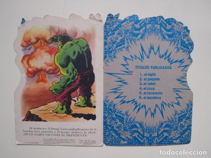 Tebeos: CUENTO TROQUELADO EL INCREIBLE HULK Nº 2 - EL PAQUETE - FHER - Foto 4 - 131759950