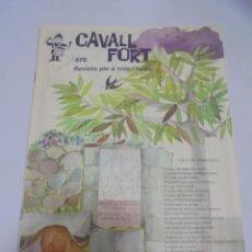 Tebeos: REVISTA PER A NOIS I NOIES. CAVALL FORT. Nº 476. Lote 132054794