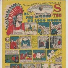 Tebeos: TBO S. EL FIN DE LOBO NEGRO. BUIGA 1947. Lote 132298618