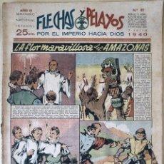 Tebeos: SEMANARIO NACIONAL N°83 FLECHAS Y PELAYOS 1938. Lote 134106479