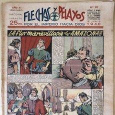 Tebeos: SEMANARIO NACIONAL N°82 FLECHAS Y PELAYOS 1938. Lote 134107046