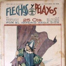 Tebeos: SEMANARIO NACIONAL N°44 FLECHAS Y PELAYOS 1938. Lote 134138041