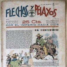 Tebeos: SEMANARIO NACIONAL N°58 FLECHAS Y PELAYOS 1938. Lote 134138049