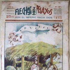 Tebeos: SEMANARIO NACIONAL N°107 FLECHAS Y PELAYOS 1938. Lote 134138095