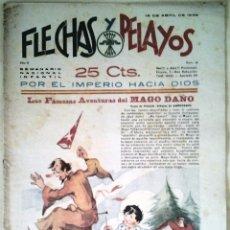 Tebeos: SEMANARIO NACIONAL N°19 FLECHAS Y PELAYOS 1938. Lote 134138163