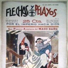 Tebeos: SEMANARIO NACIONAL N°21 FLECHAS Y PELAYOS 1938. Lote 134138382