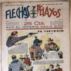 Tebeos: SEMANARIO NACIONAL °51 FLECHAS Y PELAYOS 1938. Lote 134138462