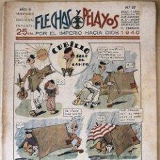 Tebeos: SEMANARIO NACIONAL N°62 FLECHAS Y PELAYOS 1938. Lote 134138515