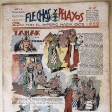 Tebeos: SEMANARIO NACIONAL N°67 FLECHAS Y PELAYOS 1938. Lote 134138873