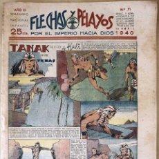 Tebeos: SEMANARIO NACIONAL N°71 FLECHAS Y PELAYOS 1938. Lote 134138914