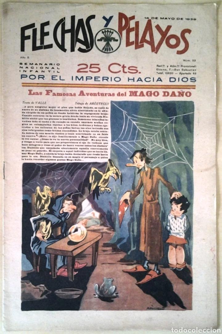 SEMANARIO NACIONAL N°23 FLECHAS Y PELAYOS 1938 (Tebeos y Comics - Tebeos Clásicos (Hasta 1.939))