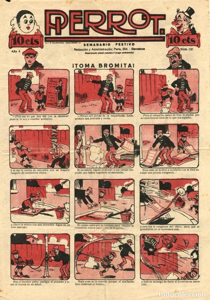 PIERROT NUMERO 181 (MAGIN PIÑOL, AÑO IV, 1926) (Tebeos y Comics - Tebeos Clásicos (Hasta 1.939))